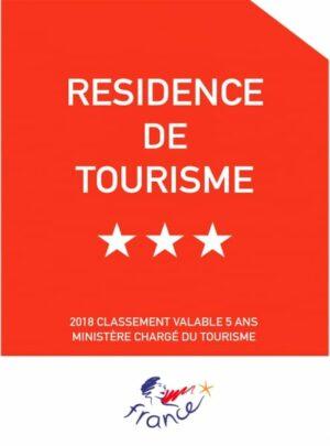 """Plaque de reclassement """"Panonceau officiel"""" Résidences de Tourisme"""