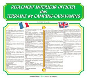 Règlement intérieur officiel 2 langues