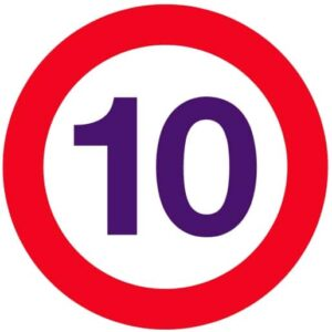 Logo 10 km/h simple (petit modèle)