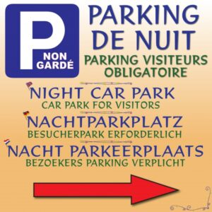 Parking de nuit non gardé - Parking visiteurs obligatoire