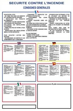 Consignes de sécurité contre l'incendie (petit modèle)