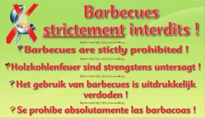 Barbecues strictement interdits