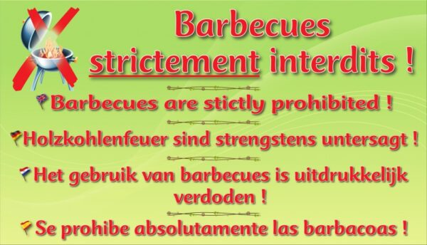 Barbecues strictement interdits