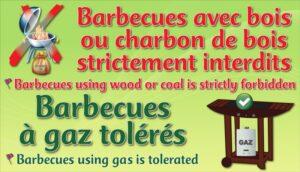 Barbecues à gaz tolérés