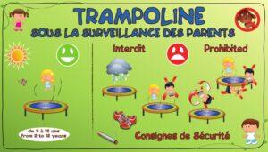 Règlement trampoline -Consignes de sécurité