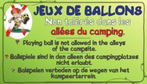 Jeux de ballons non tolérés