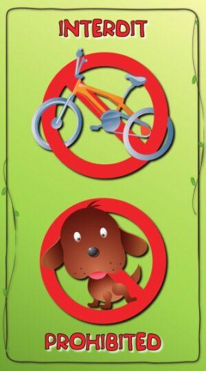 Logo Interdit chien / vélo