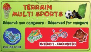 Terrain multisports - Réservé aux campeurs