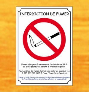 Interdit de fumer - Loi Evin (adhésif)
