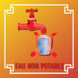 Logo eau non potable