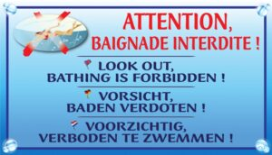 Attention baignade interdite