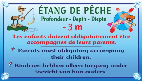 Etang + profondeur + baignade interdite