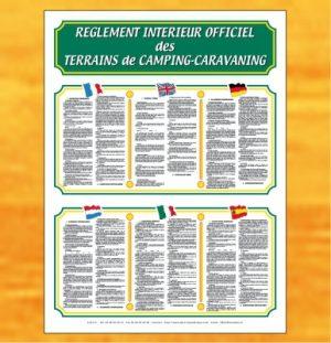 Règlement intérieur officiel 6 langues