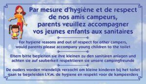 Parents veuillez accompagner vos jeunes enfants aux sanitaires