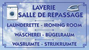 Laverie - Salle de repassage
