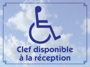 Handicapé clef disponible à la réception