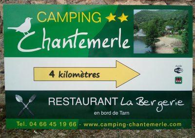 EBCD Signalétique - Camping Chantemerle Panneau routier 2