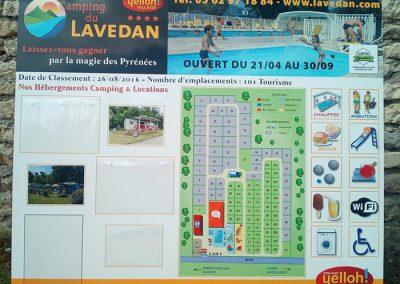 EBCD Signalétique - Camping Lavedan Panneau entrée 2