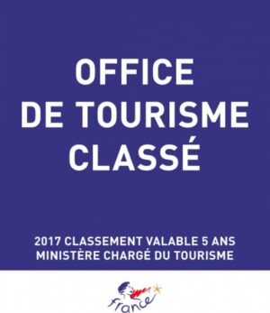 """Plaque de reclassement """"Panonceau officiel"""" Office de tourisme classé"""