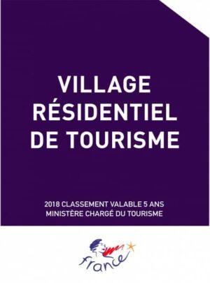 """Plaque de reclassement """"Panonceau officiel"""" Village Residentiel de Tourisme"""
