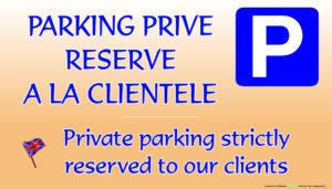 EBCD Signalétique Camping - EN004A Parking réservé à la clientèle