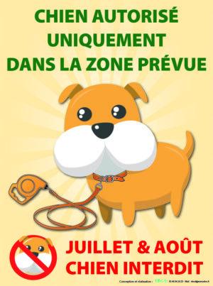 EBCD Signalétique Camping - EN014 chiens autorisés