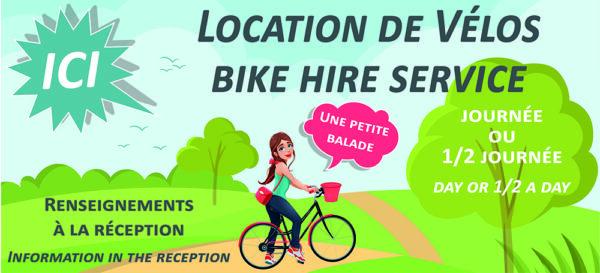 EBCD Signalétique Camping - EN043 location vélo