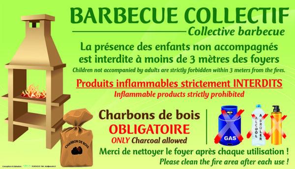EBCD Signalétique Camping - IN003A charbons de bois obligatoire