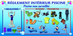 EBCD Signalétique Camping - PN011 Complet (textile) Réglement Piscine