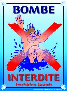EBCD Signalétique Camping - PN033 Bombe interdite