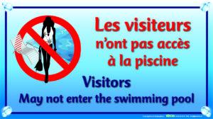 EBCD Signalétique Camping - PN043 Visiteurs pas accès piscine