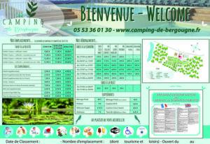 EBCD Signalétique Camping - Tarif plan T002A BERGOUGNE