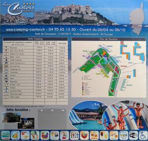 EBCD Signalétique Camping - Tarif plan T002A Castors