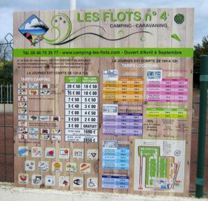 EBCD Signalétique Camping - Tarif plan T002A Les Flots 2