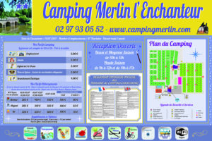 EBCD Signalétique Camping - Tarif plan T002A Merlin l'enchanteur