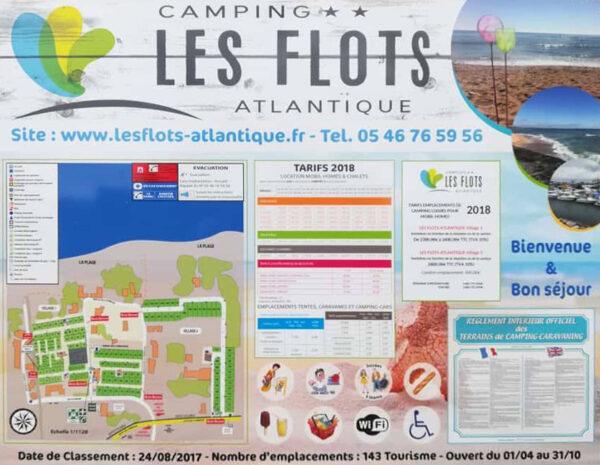 EBCD Signalétique Camping - Tarif plan T002A les flots
