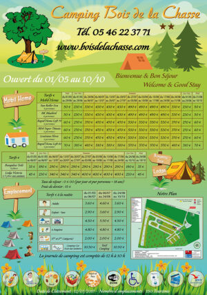 EBCD Signaletique camping - Bois de la Chasse Tarif 2019 1300x1850 vertical