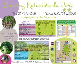 EBCD Signaletique camping - Port panneau tarif 2019 1500 x 1250