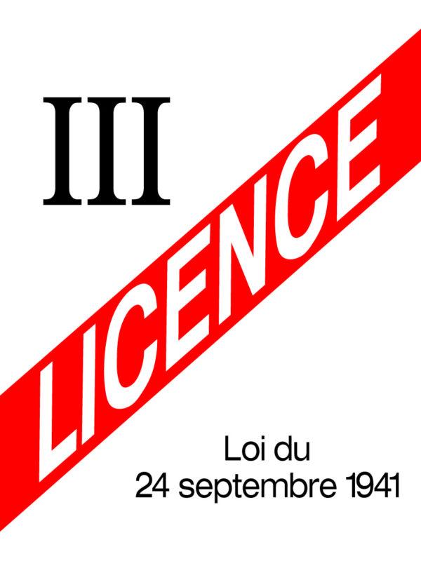 EBCD Signalétique - LICENCE III 150x210 dibond laqué blanc