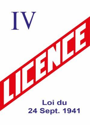 EBCD Signalétique - LICENCE IV 150x210 dibond laqué blanc