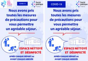 Signalétique Covid-19 - Adhésif A5 précautions mobil home