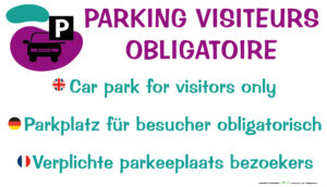EBCD Signalétique Camping - EE003 Parking visiteurs obligatoire