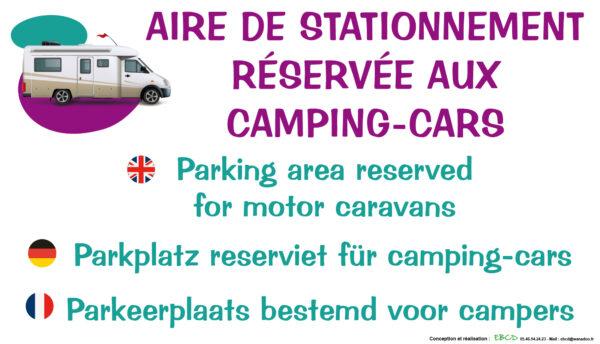 EBCD Signalétique Camping - EE006 Aire de stationnement camping car