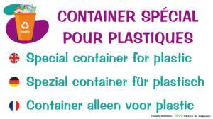 EBCD Signalétique Camping - EE010 Container plastique 450 x 250