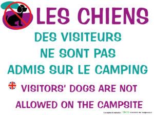 EBCD Signalétique Camping - EE018 Chiens des visiteurs interdits 400 X 300