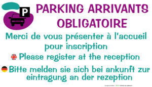 EBCD Signalétique Camping - EE020 Parking arrivants obligatoire