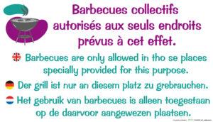 EBCD Signalétique Camping - IE003 Barbecues collectifs autorisés