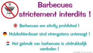 EBCD Signalétique Camping - IE004 Barbecues strictement interdit