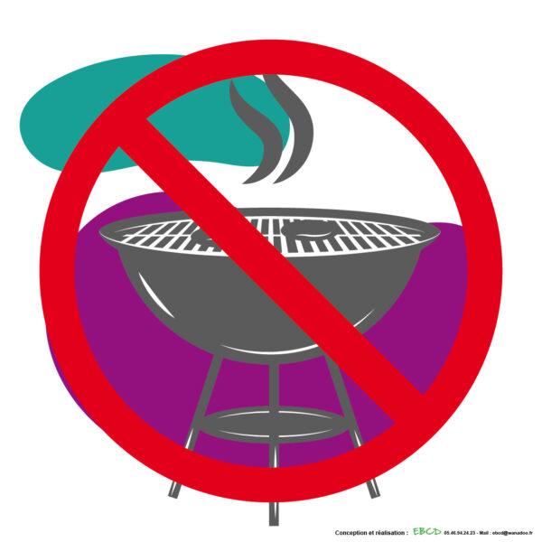 EBCD Signalétique Camping - IE015 Barbecue interdit 400 x 400