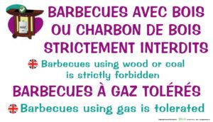 EBCD Signalétique Camping - IE016 barbecues bois interdits
